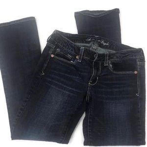 American Eagle Skinny Kick Jeans Size 6S Stretch